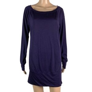 Nike Epic Wool Tunic Shirt Top Purple Wool Blend